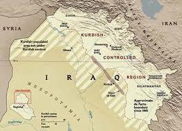 La mappa del Kurdistan iracheno