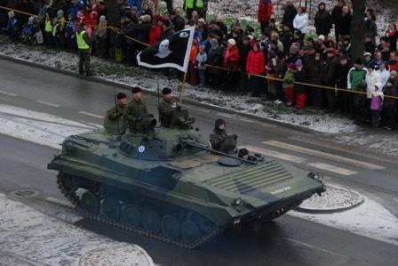 L'IFV di produzione russa BMP-2, qui nei colori dell'esercito finlandese