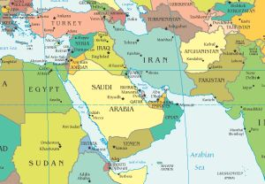cartina geografica medio oriente politica
