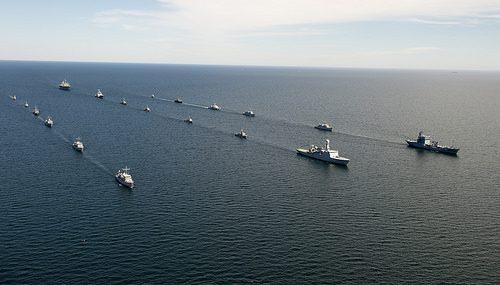 Schieramento di unità NATO per l'esercitazione BALTOPS 2014