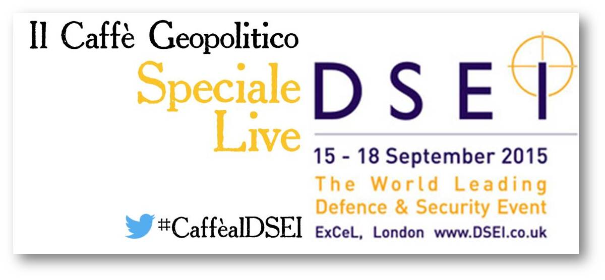 Logo speciale live DSEI 2015
