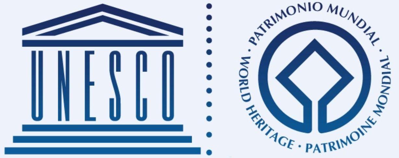 """il logo ufficiale dei siti """"patrimonio mondiale dell'umanità"""" protetti dall'UNESCO"""