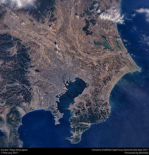 Tokyo from satellite foto