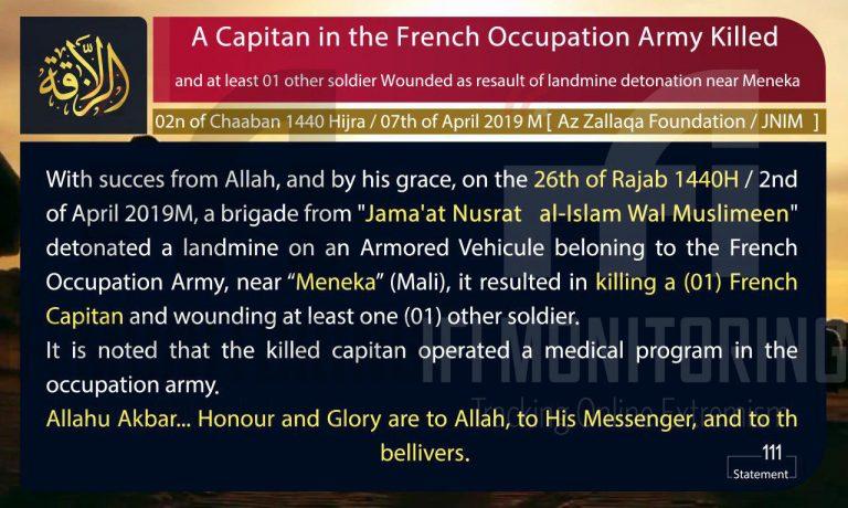 Gli occhi nel Jihad 01 – 15 Aprile 2